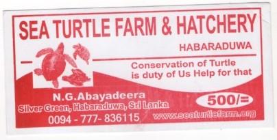 Билет на черепаховую ферму Шри Ланки