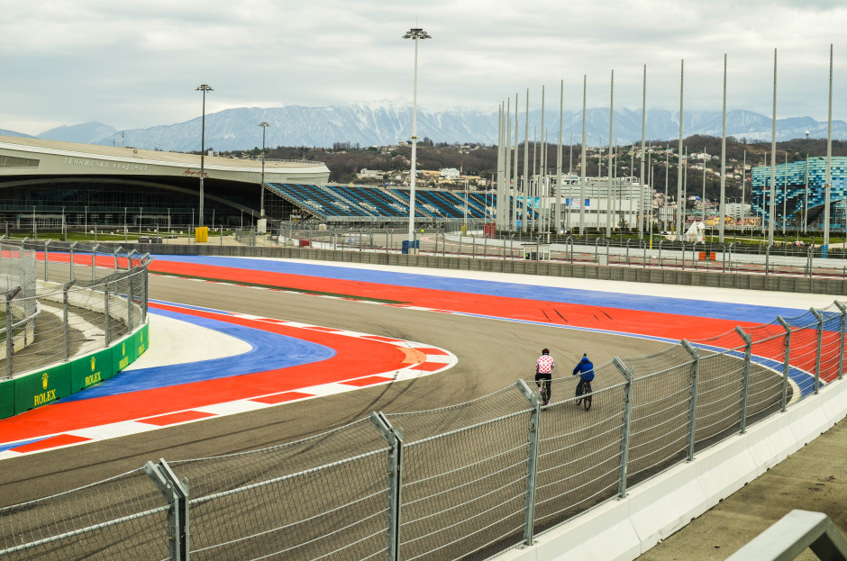 Трасса F1 олимпийский объект Адлер