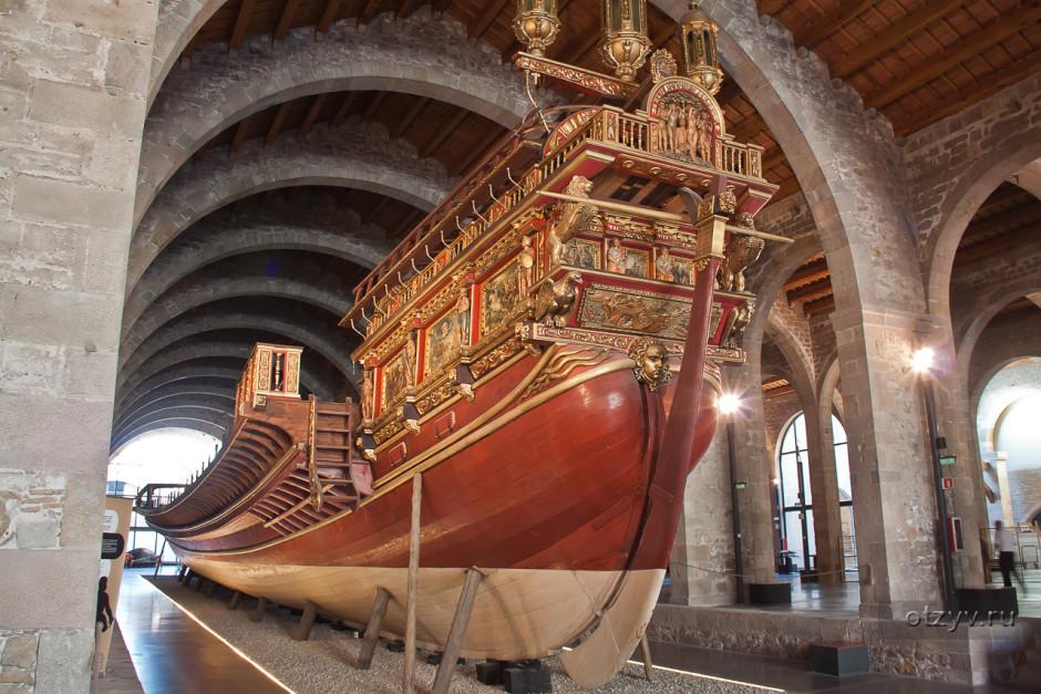 Экспозиция Морского музея Барселоны