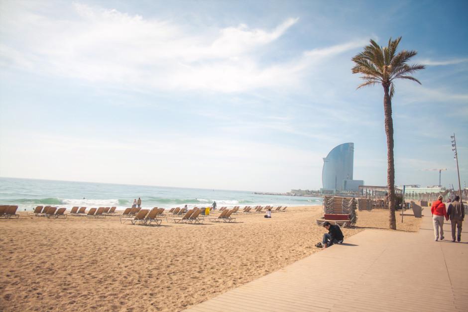 Пляж barcelonnette