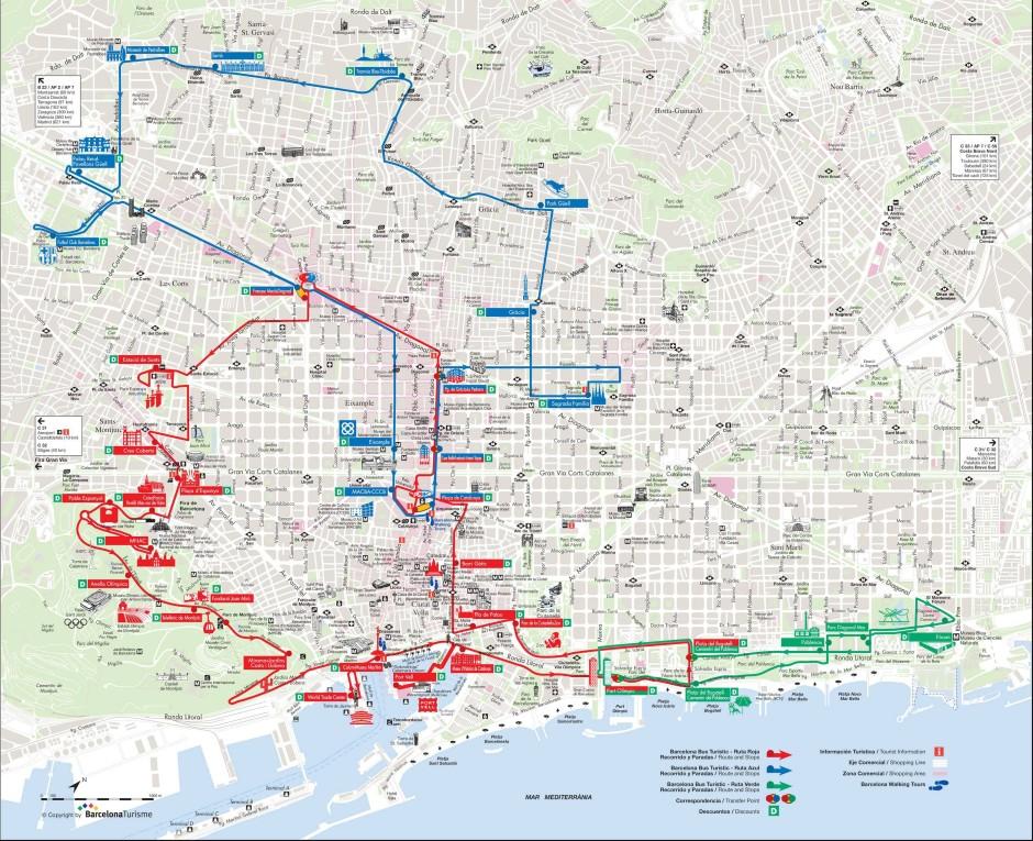 Схема маршрута автобуса Бас Туристик