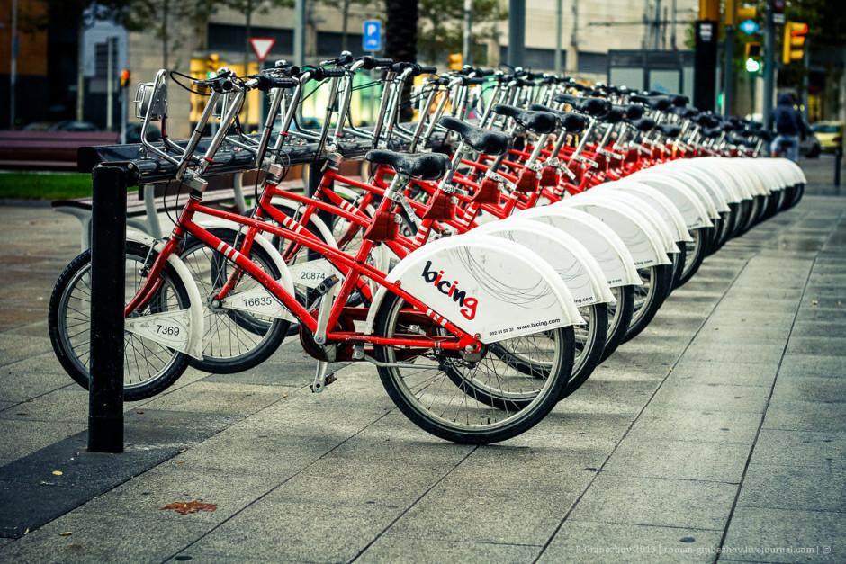 Аренда велосипедов в Барселоне